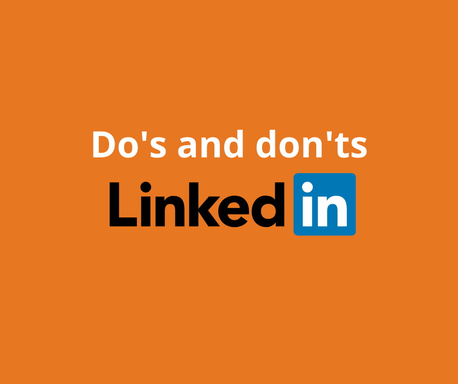 Do's and don'ts på LinkedIn