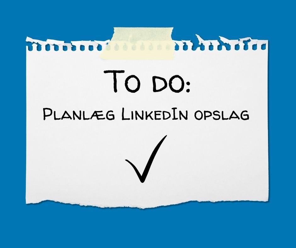 Planlægningsværktøjer til LinkedIn